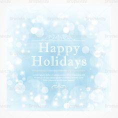 Happy Holidays PSD Background!