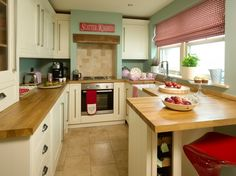 cute little kitchen at Lavender Cottage