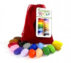 Soy based crayon rocks