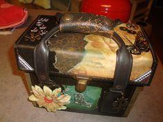 Steampunk vintage camera case.