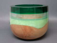 Unique Handcrafted Turned & Carved Wooden Bowl of by Colemancrafts