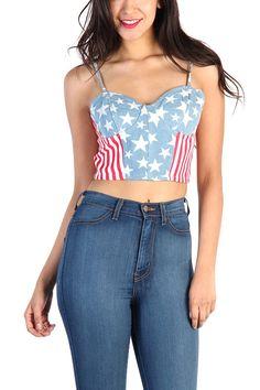 American Flag Bustier