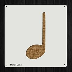 Quarter Note Music Style 1414, DIY Plastic Stencil Acrylic Mylar Reusable *** Learn more by visiting the image link.