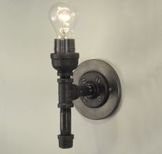 industrial wall sconce light   Collections  Pipe Fittings Collection  Black Pipe MB Sconce