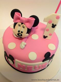 minnie mouse boutique cupcakes | Juliasca Boutique Tartas Tarta Minnie Mouse Rosa