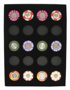 Amazon.com: Chip Insert 20 Casino Chips Display Board Case 9 x 12: Sports & Outdoors