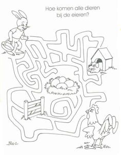 Easter Coloring Pages, Colouring Pages, Mazes For Kids, Maze Puzzles, Learning Numbers, Picasa Web Albums, Spring Theme, Spring Activities, Easter Crafts