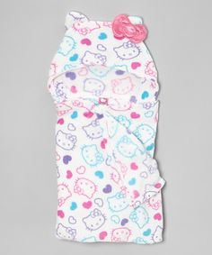 Take a look at this White Hello Kitty Hooded Towel by Hello Kitty on #zulily today!