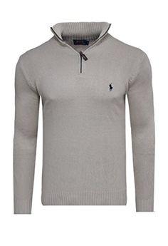Polo ralph lauren pull zipper pull en tricot beige taille s m l xL xXL