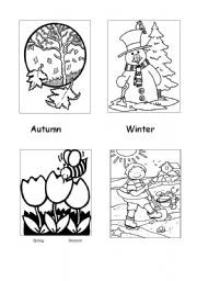 1000 images about les saisons on pinterest seasons worksheets and coloring worksheets - Dessin 4 saisons ...