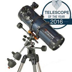 Celestron AstroMaster 114 EQ Reflector Telescope - Telescopes at Telescopes
