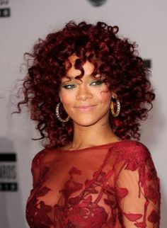 Rhianna :: Deep Red Dress