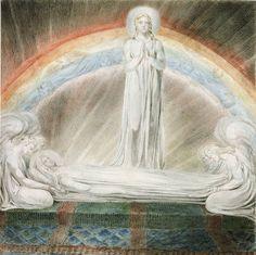 William Blake (1757‑1827). The Death of the Virgin, 1803. Watercolour on paper William Blake Paintings, William Blake Art, Irish Painters, Frog Illustration, Goth Art, Pre Raphaelite, Religious Art, Celestial, Great Artists