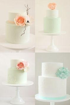 hello naomi: a rainbow of wedding cakes..!