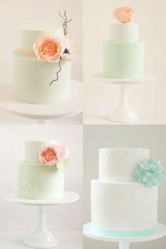 hello naomi: a rainbow of wedding cakes..!