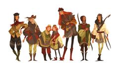"""Seven brothers, seven sons. The sons of Fëanor. """"If we're going down, let's go down looking like a peruvian folk band!"""" xD"""