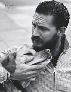 Tom Hardy with a beard AND a dog?!