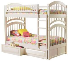 Windsor Bunk Bed Twin Over Twin in a White