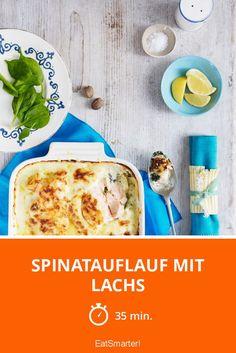 Spinatauflauf mit Lachs - einfach und schnell gemacht.