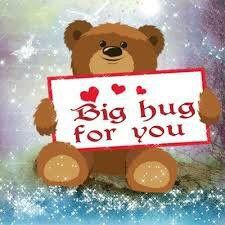 hugs for you ~From My Friend Myrian Big Hugs For You, Sending You A Hug, Hug You, Send A Hug, Hugs And Kisses Quotes, Hug Quotes, Hug Pictures, Teddy Bear Pictures, Morning Pictures