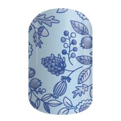 Think of Me | Jamberry | With intricately detailed botanicals in pretty shades of blue, 'Think Of Me' is effortlessly elegant.