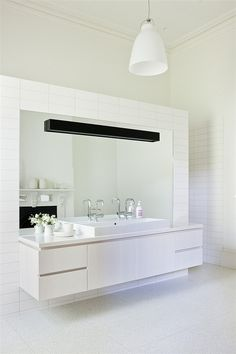 Like this exact setup (although different finishing) for the master bathroom