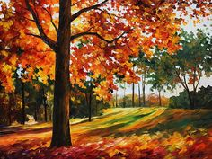 Autumn Forest - By Leonid Afremov