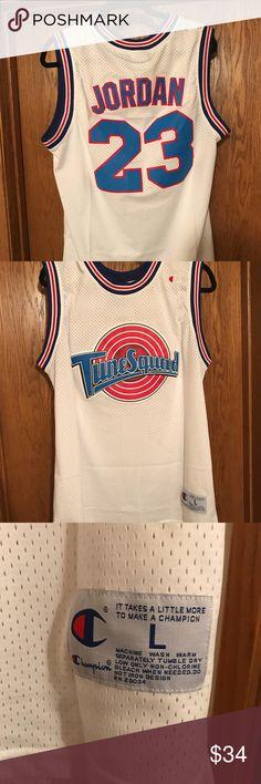 9e330c6f47758b Size L Tune Squad Basketball Jersey Jordan Brand new white Champion Tune  Squad Jordan Jersey Champion Shirts Tank Tops