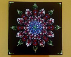 BarbaraMandalaTFS #42 mano pintado flor Mandala #30x30cm #Summer #Sunshine #Relax #Peace
