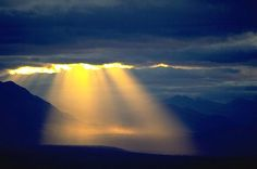 Sun breaks through storm/ The Victory of faith is to trust in the dark...(Menagerie)