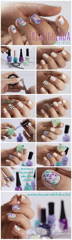 How to: Water marble nail art.this is sooooo cool! Nail Art Pastel, Cute Nail Art, Nail Art Diy, Diy Nails, Nail Polish Designs, Cute Nail Designs, Nails Decoradas, Purple Art, Sweater Nails