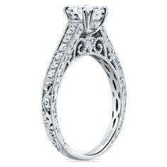Kirk Kara 18K White Gold Diamond Ring Mounting