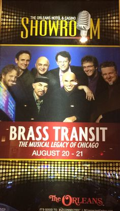 CHICAGO TRIBUTE...BRASS TRANSIT @ ORLEANS