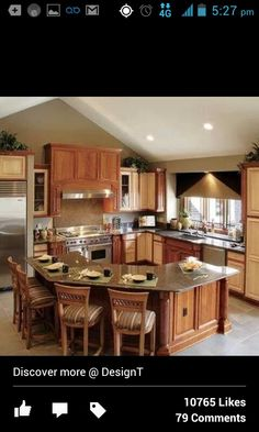 Kitchen Layouts L Shaped With Island similar to original design; get rid of window & long pantry, add
