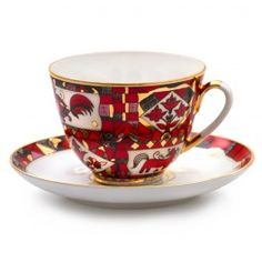 Red Steed Teacup w/ Saucer