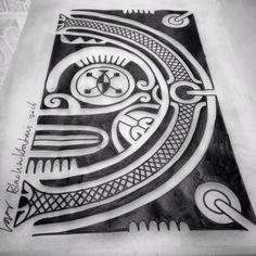 Marquesan patutiki/Tiki - Tattoos by Igor Kampman Blackinktatau - polynesian tattoos www.blackinktatau.com