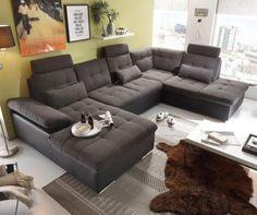 Couch Jerrica Grau Schwarz 325x220 cm Bettkasten Schlaffunktion Wohnlandschaft Jetzt bestellen unter: https://moebel.ladendirekt.de/wohnzimmer/sofas/wohnlandschaften/?uid=793fe0c7-8b30-5eca-aaeb-268257289e94&utm_source=pinterest&utm_medium=pin&utm_campaign=boards #sofas #wohnzimmer #wohnl #schaften