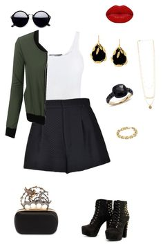 """""""Untitled #198"""" by erin-mccamy on Polyvore featuring Vince, RED Valentino, Aurélie Bidermann, LE3NO, Calvin Klein, Pomellato, Winky Lux and Alexander McQueen"""