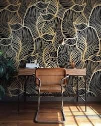 Image result for dark temporary wallpaper with gold leaf and birds
