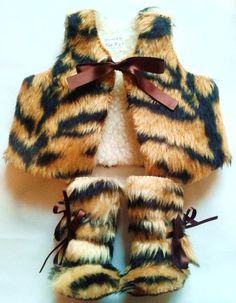 Baby Photo Prop  Tiger Animal Print Fur Baby Set by funkyshapes, $60.00