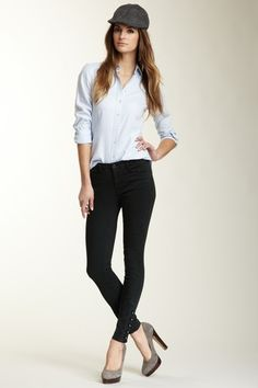 J Brand Fallon Side Button Pant by Premium Denim on @HauteLook