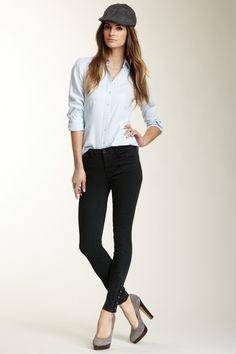 J Brand Fallon Side Button Pant by Premium Denim on @HauteLook