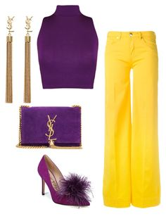 """""""Brighten Up"""" by molauren on Polyvore featuring WearAll, Sam Edelman, Love Moschino and Yves Saint Laurent"""