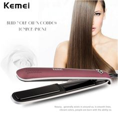 16.97$  Buy here - http://alix00.shopchina.info/go.php?t=32805912000 -  Kemei LCD display Hair Straightener Flat Ceramic Straightening Iron Temperature Control Styler Styling Tools 50W 110-240V S4950  #bestbuy