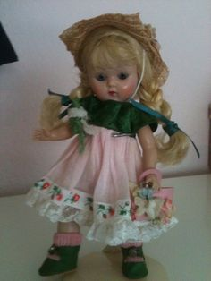 """Vogue Ginny Pamela doll 8"""" from 1950's I am not even sure how many of these I still have. When they came back as top quality dolls in the 90s I began giving them to the little girls in my life. <3"""