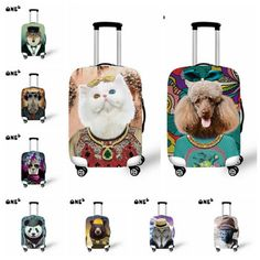 New Animal Cat/Dog Design Printing Travel Suitcase Luggage Protective Cover With Storage Bag 6 Colors Luggage Cover, Luggage Bags, Cat Dog, Dog Design, Travel Accessories, Bag Storage, Suitcase, Printing, Cats