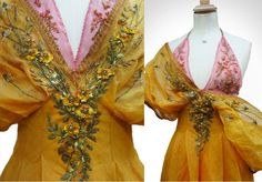 Details of Marcella's dress in Dorne