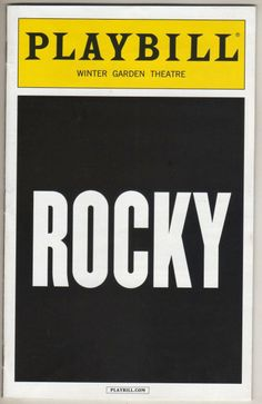 """Rocky"" Playbill Broadway Preview Andy Karl Margo Seibert Terence Archie 