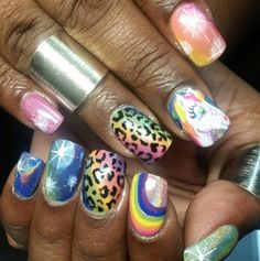 Unicorn nail art by Adreanna Corrales