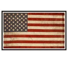 422a82422e2 American Flag Framed Print  potterybarn American Flag Images